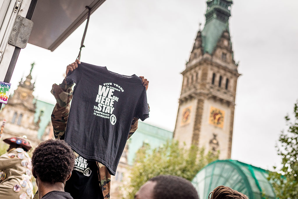 We'll Come United-Parade at the town hall in Hamburg © Daniel Nide